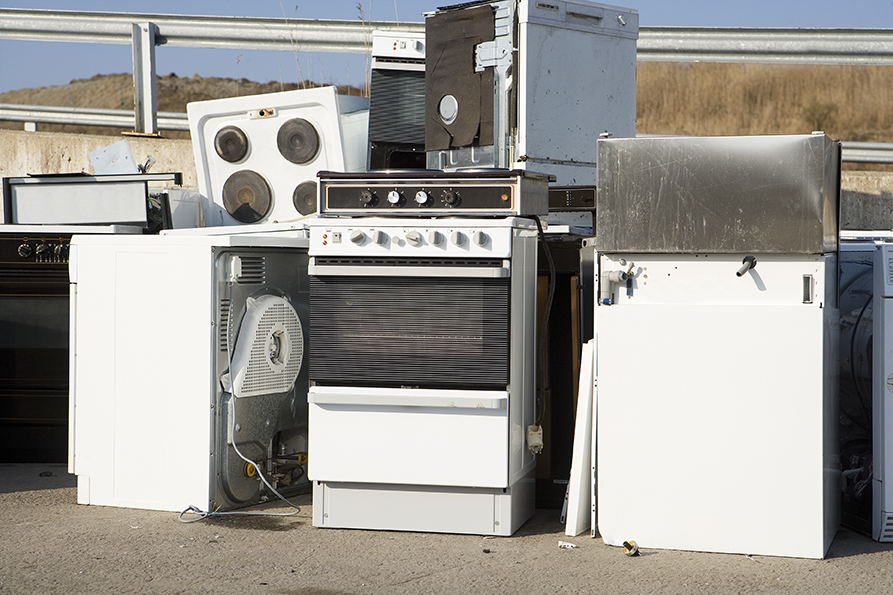 old pile of appliances
