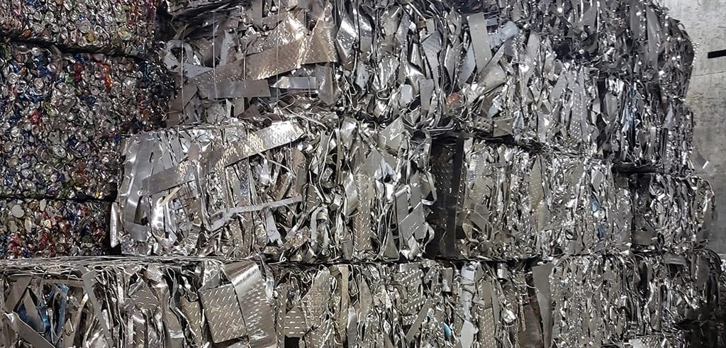 brick of metal scrap bound